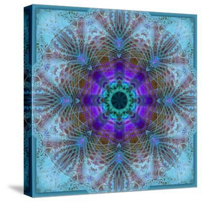 A Mandala Montage Out of Roses and Ornaments-Alaya Gadeh-Stretched Canvas Print