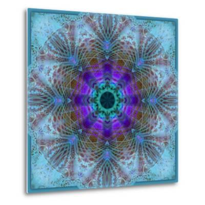 A Mandala Montage Out of Roses and Ornaments-Alaya Gadeh-Metal Print