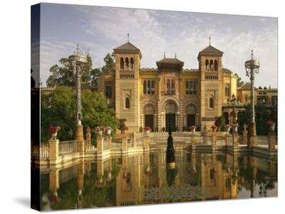 Spain, Sevilla, Palacio Mudejar-Thonig-Stretched Canvas Print