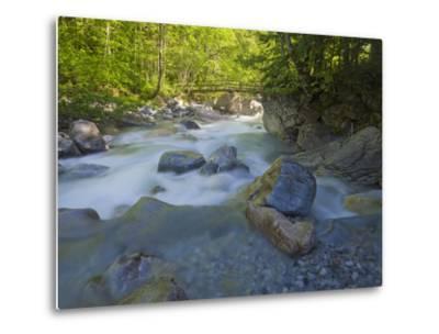Austria, Carinthia, Mauthner Klamm (Ravine), Valentinbach (Brook), Stones, Bridge-Rainer Mirau-Metal Print