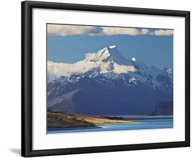 Lake Pukaki, Aoraki, Mount Cook National Park, Canterbury, South Island, New Zealand-Rainer Mirau-Framed Photographic Print