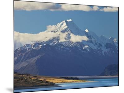Lake Pukaki, Aoraki, Mount Cook National Park, Canterbury, South Island, New Zealand-Rainer Mirau-Mounted Photographic Print