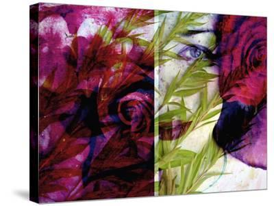Creative Dyptich of a Portrait and a Rose-Alaya Gadeh-Stretched Canvas Print