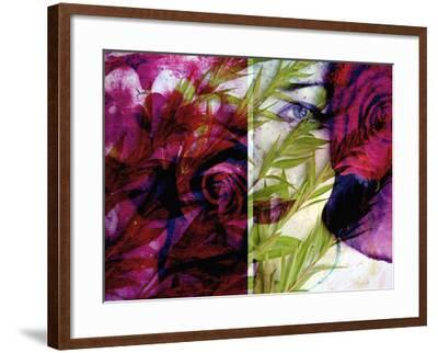 Creative Dyptich of a Portrait and a Rose-Alaya Gadeh-Framed Photographic Print