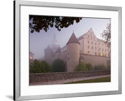 Fortress Marienberg in the Fog, WŸrzburg (City), Bavaria, Germany)-Rainer Mirau-Framed Photographic Print