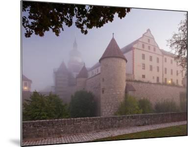 Fortress Marienberg in the Fog, WŸrzburg (City), Bavaria, Germany)-Rainer Mirau-Mounted Photographic Print