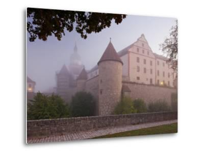 Fortress Marienberg in the Fog, WŸrzburg (City), Bavaria, Germany)-Rainer Mirau-Metal Print