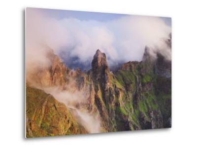 Pico Gato, View from the Miradouro Ninho Da Manta, Arieiro, Madeira, Portugal-Rainer Mirau-Metal Print