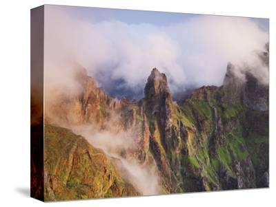 Pico Gato, View from the Miradouro Ninho Da Manta, Arieiro, Madeira, Portugal-Rainer Mirau-Stretched Canvas Print