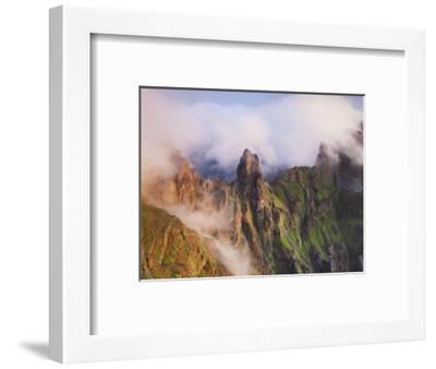 Pico Gato, View from the Miradouro Ninho Da Manta, Arieiro, Madeira, Portugal-Rainer Mirau-Framed Photographic Print