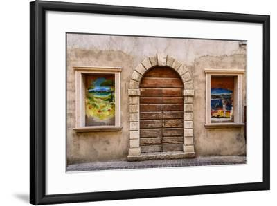 Italy, Veneto, Lake Garda, Torri Del Benaco, Old Town-Udo Siebig-Framed Photographic Print