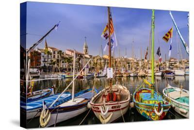 France, Provence, Var, Sanary-Sur-Mer, Harbour-Udo Siebig-Stretched Canvas Print