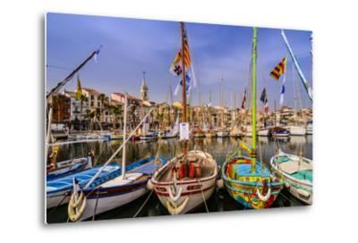 France, Provence, Var, Sanary-Sur-Mer, Harbour-Udo Siebig-Metal Print