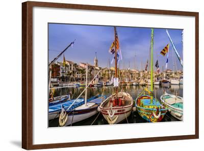 France, Provence, Var, Sanary-Sur-Mer, Harbour-Udo Siebig-Framed Photographic Print