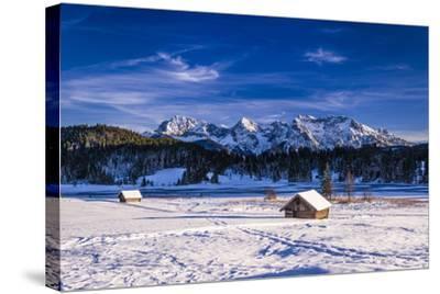 Germany, Bavaria, Upper Bavaria, Werdenfelser Land (Region), Alpenwelt Karwendel-Udo Siebig-Stretched Canvas Print