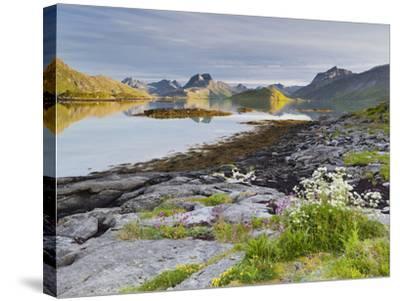 Norway, Northern Country, Lofoten, Moskenesoya, Rossoystraumenen-Rainer Mirau-Stretched Canvas Print