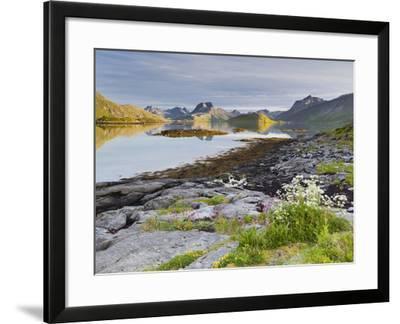 Norway, Northern Country, Lofoten, Moskenesoya, Rossoystraumenen-Rainer Mirau-Framed Photographic Print