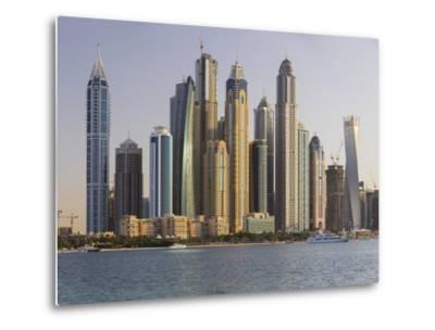 Skyscrapers Near Dubai Marina, the Palm Jumeirah, Dubai, United Arab Emirates-Rainer Mirau-Metal Print