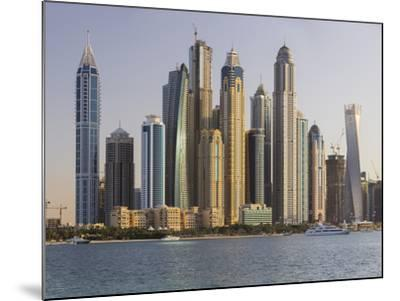 Skyscrapers Near Dubai Marina, the Palm Jumeirah, Dubai, United Arab Emirates-Rainer Mirau-Mounted Photographic Print