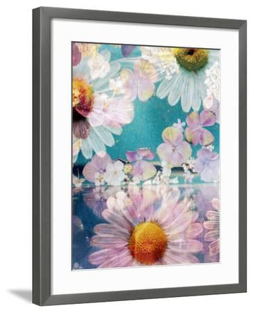 Composing of Blossoms and Water-Alaya Gadeh-Framed Photographic Print