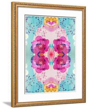 A Floral Montage with Blossoms and Ornaments from Spring Knots-Alaya Gadeh-Framed Photographic Print