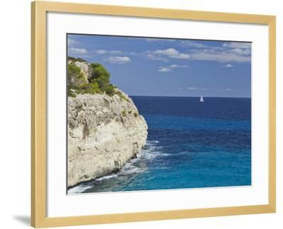 Steep Coast Close Cala Romantica, Majorca, Spain-Rainer Mirau-Framed Photographic Print