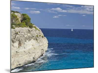 Steep Coast Close Cala Romantica, Majorca, Spain-Rainer Mirau-Mounted Photographic Print