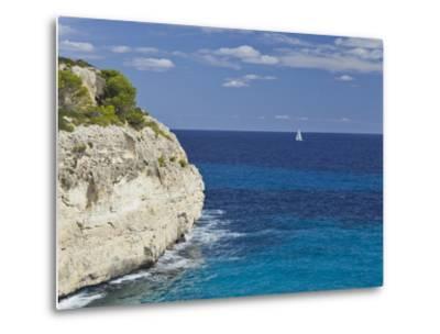Steep Coast Close Cala Romantica, Majorca, Spain-Rainer Mirau-Metal Print