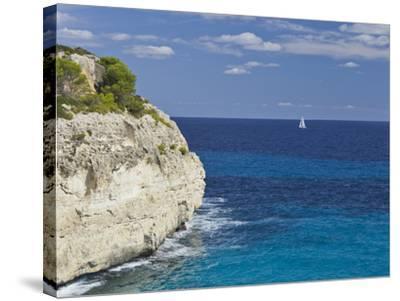 Steep Coast Close Cala Romantica, Majorca, Spain-Rainer Mirau-Stretched Canvas Print