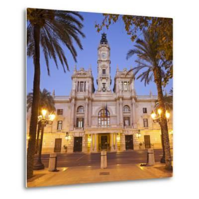 Spain, Valencia, Place De L'Ajuntament, City Hall-Rainer Mirau-Metal Print