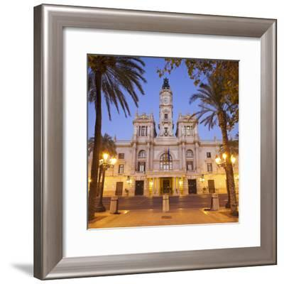 Spain, Valencia, Place De L'Ajuntament, City Hall-Rainer Mirau-Framed Photographic Print