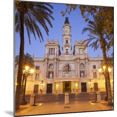 Spain, Valencia, Place De L'Ajuntament, City Hall-Rainer Mirau-Mounted Photographic Print