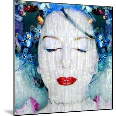 A Montage of a Portrait of a Womans Face with Flowers and Textures-Alaya Gadeh-Mounted Photographic Print