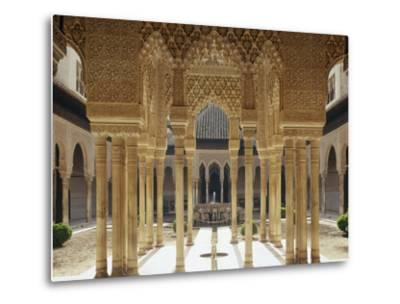 Spain, Andalusia, Granada, Alhambra, Lion's Court-Thonig-Metal Print
