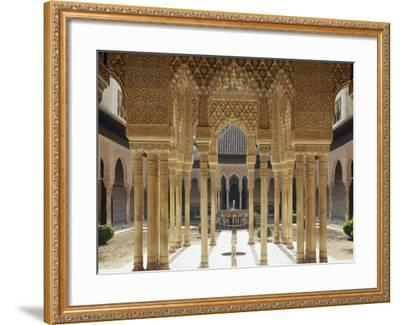 Spain, Andalusia, Granada, Alhambra, Lion's Court-Thonig-Framed Photographic Print