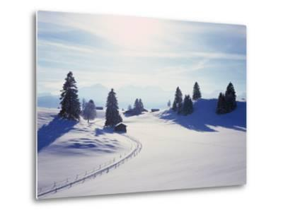 Germany, Bavaria, AllgŠu, Snow Scenery, Back Light, Alps, Mountains, Loneliness, Mountains, Winter-Herbert Kehrer-Metal Print