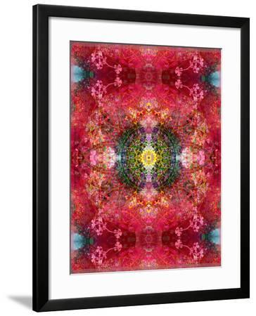 An Energetic Symmetric Onament from Flower Photographs-Alaya Gadeh-Framed Photographic Print