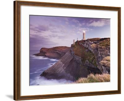 Lighthouse Cabo Mayor Near Santander, Kantabrien, Spain-Rainer Mirau-Framed Photographic Print