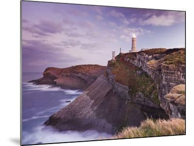 Lighthouse Cabo Mayor Near Santander, Kantabrien, Spain-Rainer Mirau-Mounted Photographic Print