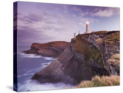 Lighthouse Cabo Mayor Near Santander, Kantabrien, Spain-Rainer Mirau-Stretched Canvas Print