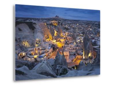 City View of Gšreme by Night, Cappadocia, Anatolia, Turkey-Rainer Mirau-Metal Print
