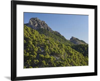 Mountain Coll De Les Fontanelles, Cap De Formentor, Majorca, Spain-Rainer Mirau-Framed Photographic Print