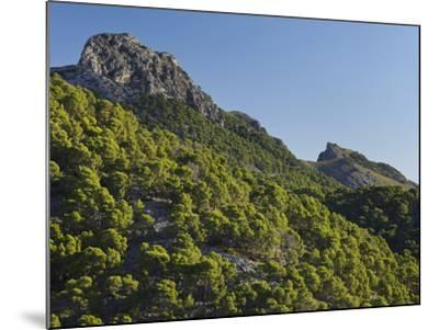 Mountain Coll De Les Fontanelles, Cap De Formentor, Majorca, Spain-Rainer Mirau-Mounted Photographic Print