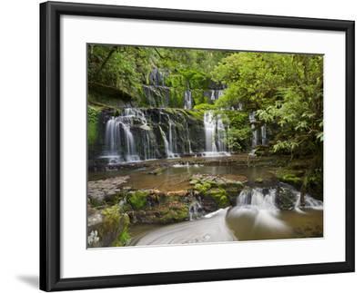 Purakanui Falls, Catlins, Otago, South Island, New Zealand-Rainer Mirau-Framed Photographic Print