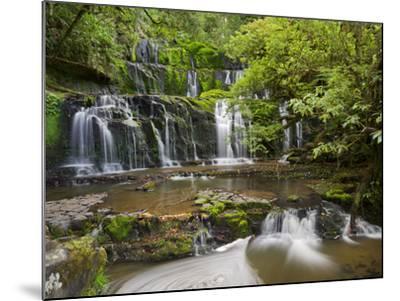 Purakanui Falls, Catlins, Otago, South Island, New Zealand-Rainer Mirau-Mounted Photographic Print