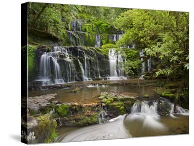 Purakanui Falls, Catlins, Otago, South Island, New Zealand-Rainer Mirau-Stretched Canvas Print
