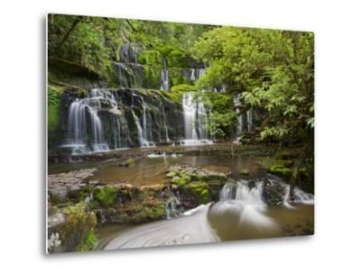 Purakanui Falls, Catlins, Otago, South Island, New Zealand-Rainer Mirau-Metal Print