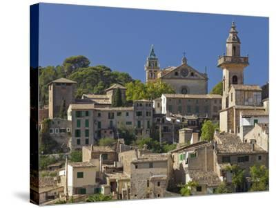 Town View of Valldemossa, Majorca, Spain-Rainer Mirau-Stretched Canvas Print