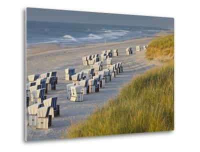 Beach Chairs on the Beach Close Kampen (Municipality), Sylt (Island), Schleswig-Holstein, Germany-Rainer Mirau-Metal Print