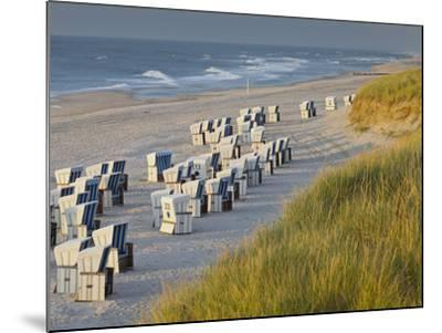 Beach Chairs on the Beach Close Kampen (Municipality), Sylt (Island), Schleswig-Holstein, Germany-Rainer Mirau-Mounted Photographic Print